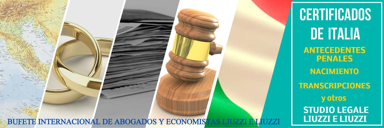Certificados de antecedentes penales de Italia